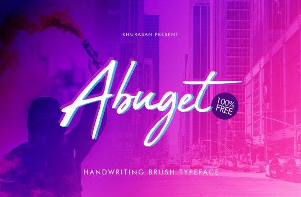 Abuget Brush Font Free