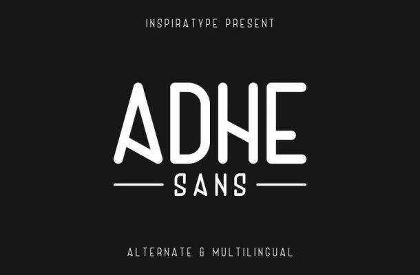Adhe Sans Typeface Free