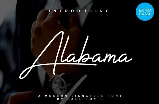 Alabama Signature Font Free