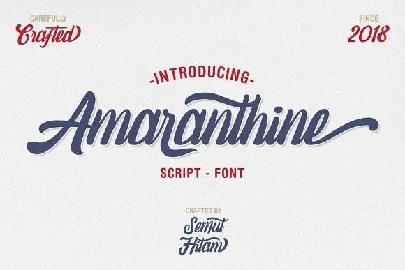 Amaranthine Script Font Free