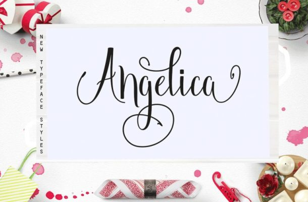 Angelica Script Font Free