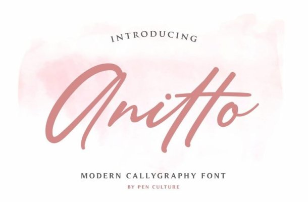 Anitto Calligraphy Font Free