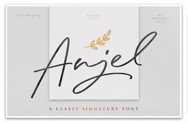 Anjel Signature Font Free