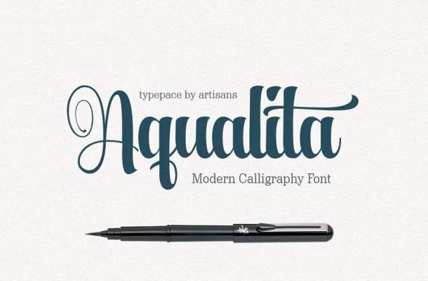 Aqualita Script Font Free
