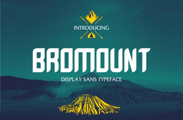 Bromount Typeface Free