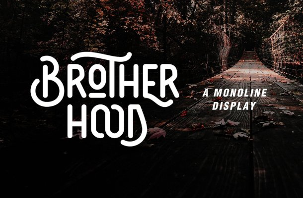 Brotherhood Display Font Free