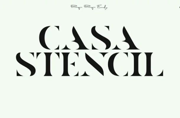 Casa Stencil Typeface Free