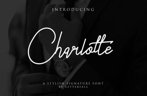 Charlotte Signature Font Free