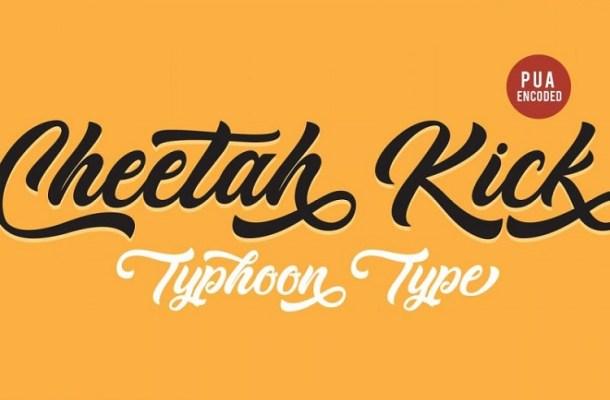 Cheetah Kick Script Font Free