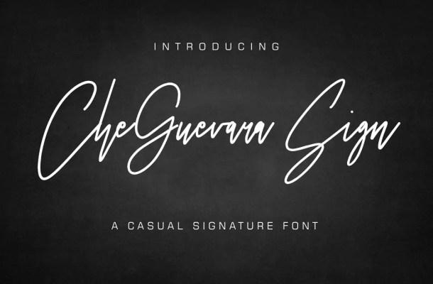 CheGuevara Sign Font Free