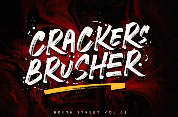 Crackers Brusher Font Free