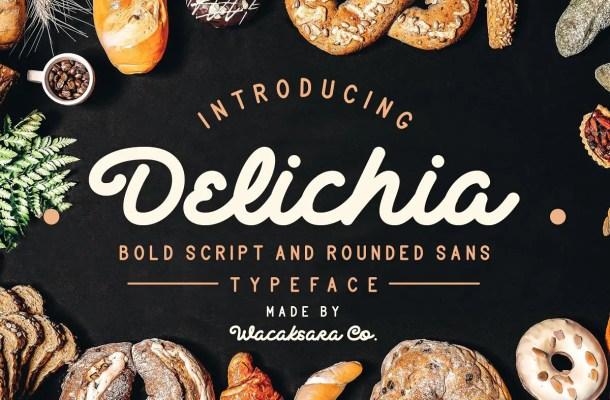 Delichia Bold Script Font Free