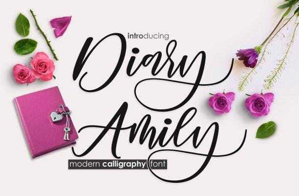 Diary Amily Script Font Free