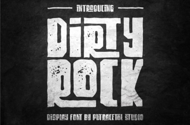 Dirty Rock Typeface Free