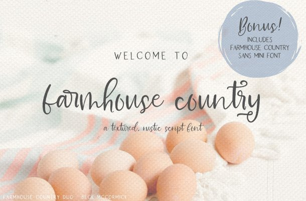 Farmhouse Country Rustic Script Font Free