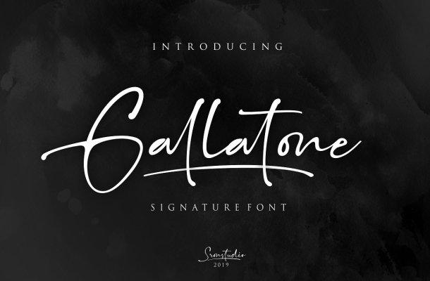 Gallatone Signature Font Free