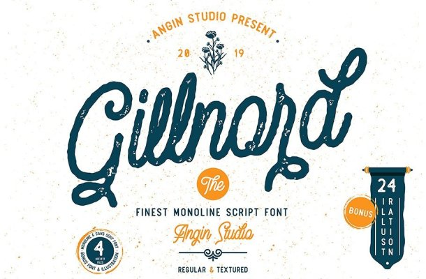 Gillnord Script Font Free