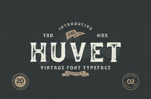 Huvet Vintage Font Free