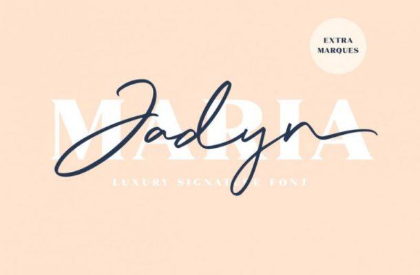 Jadyn Maria Signature Font Free