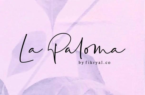 La Paloma Handwritten Font Free