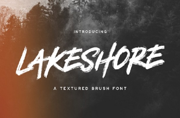 Lakeshore Brush Font Free