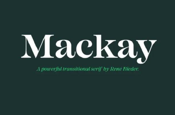 Mackay Font Family Free