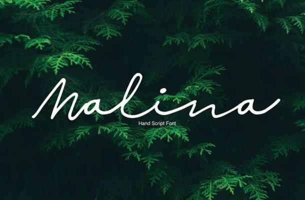 Malina Script Font Free