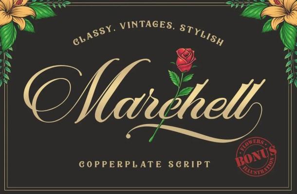 Marchell Script Font Free