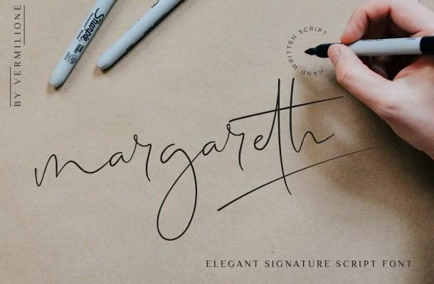 Margareth Signature Font Free