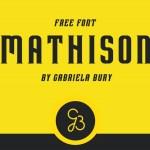 Mathison Typeface Free