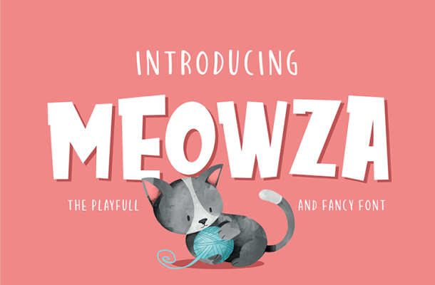 Meowza Playfull and Fancy Font Free