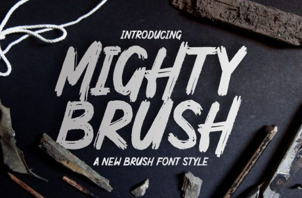 Mighty Brush Font Free