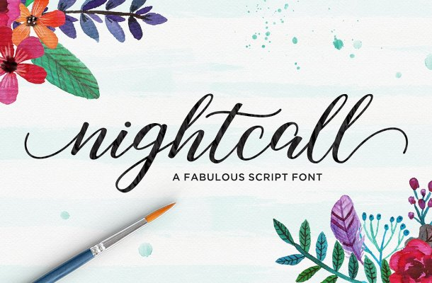 Nightcall Script Font Free