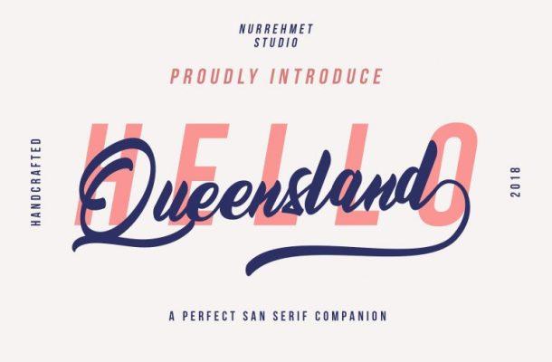 Queensland Script Font Free