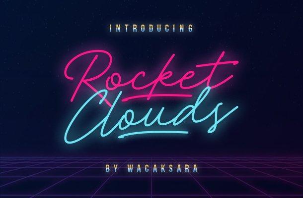 Rocket Clouds Script Font