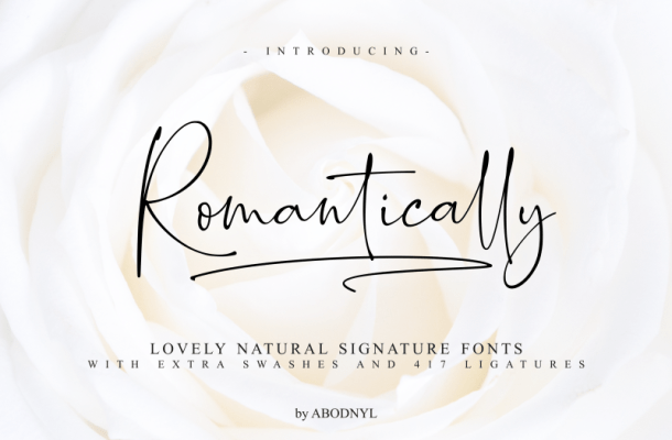 Romantically Script Font Free
