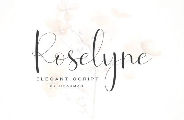 Roselyne Script Font Free