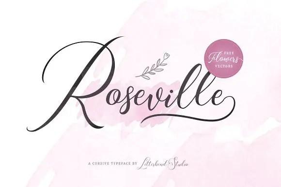Roseville Script Font Free