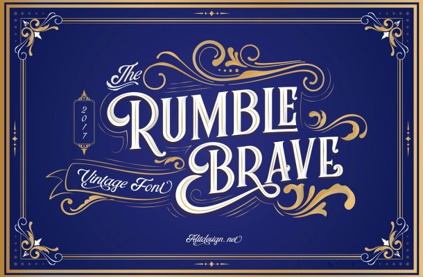 Rumble Brave Typeface Free