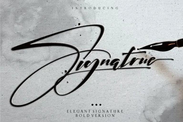 Download Signatrue Elegant Signature Font Free - Dafont Free