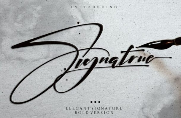 Signatrue Elegant Signature Font Free
