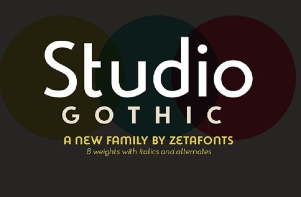 Studio Gothic Font Family Free