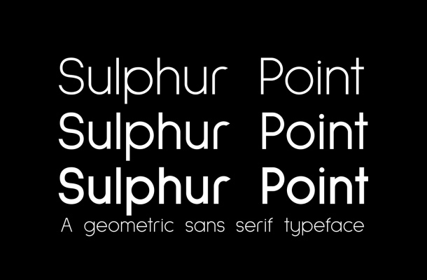 Sulphur Point Font Family Free