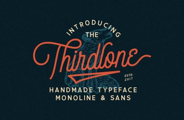 Thirdlone Handmande Font Free