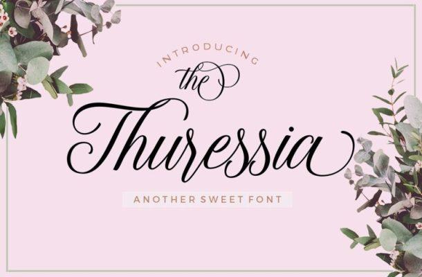 Thuressia Script Font Free