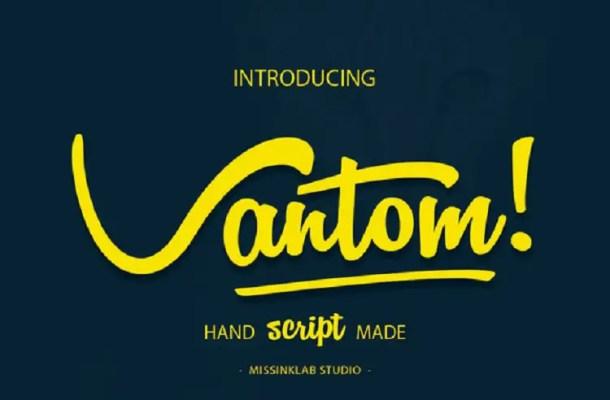 Vantom Script Font Free