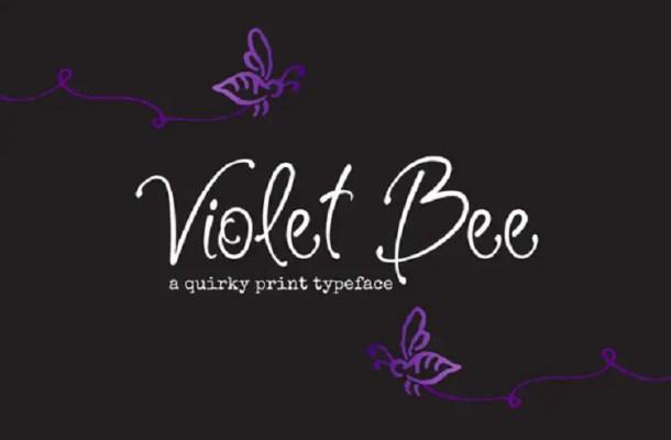 Violet Bee Font Free