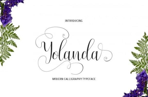 Yolanda Script Font Free