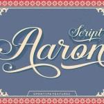 Aaron Script Font Free