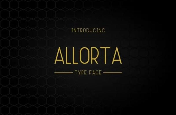 Allorta Sans Serif Font Free
